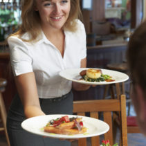 Waitress Serving Customer